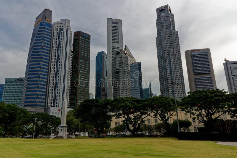 Loterijenplaats, cty van Singapore stock afbeelding