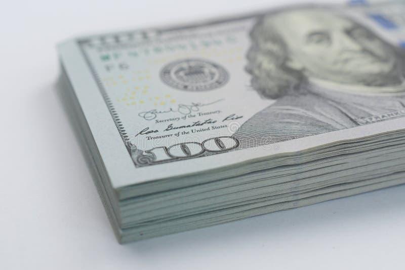 Lotes de cédulas do dólar americano com 100 notas da conta quanto para a financeira e ao negócio, moeda fotos de stock royalty free