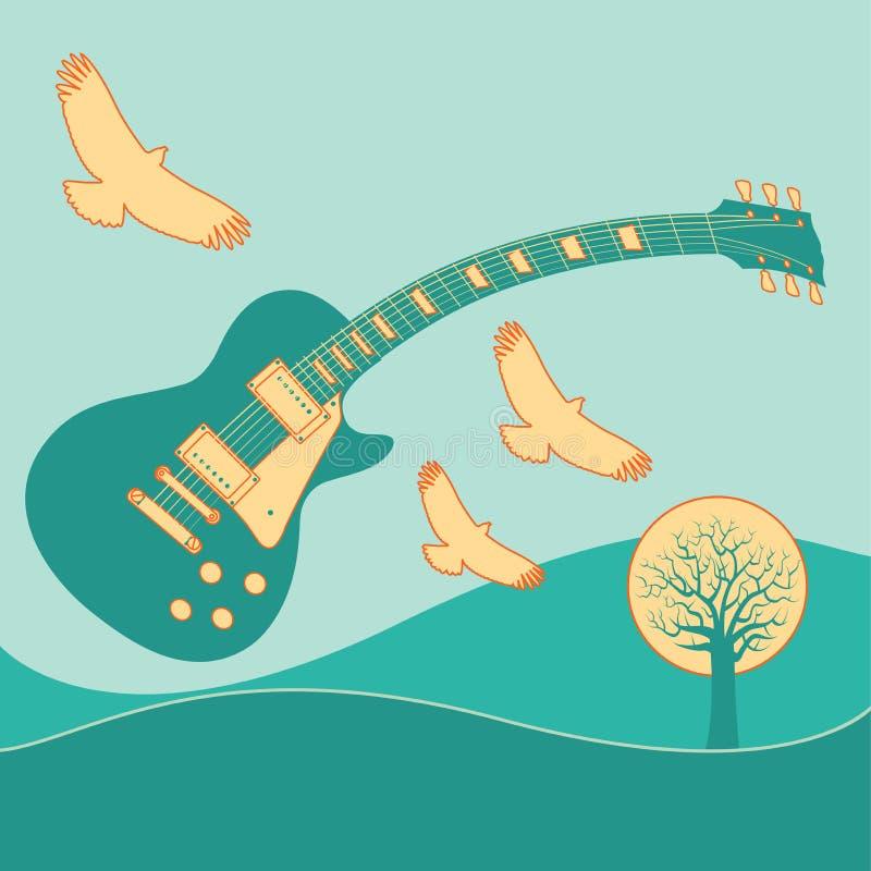 Lotes do funk neste fundo da música ilustração do vetor