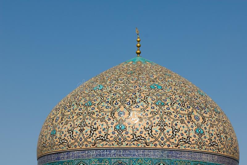 lotf阿拉・ Mosque回教族长圆顶  库存图片