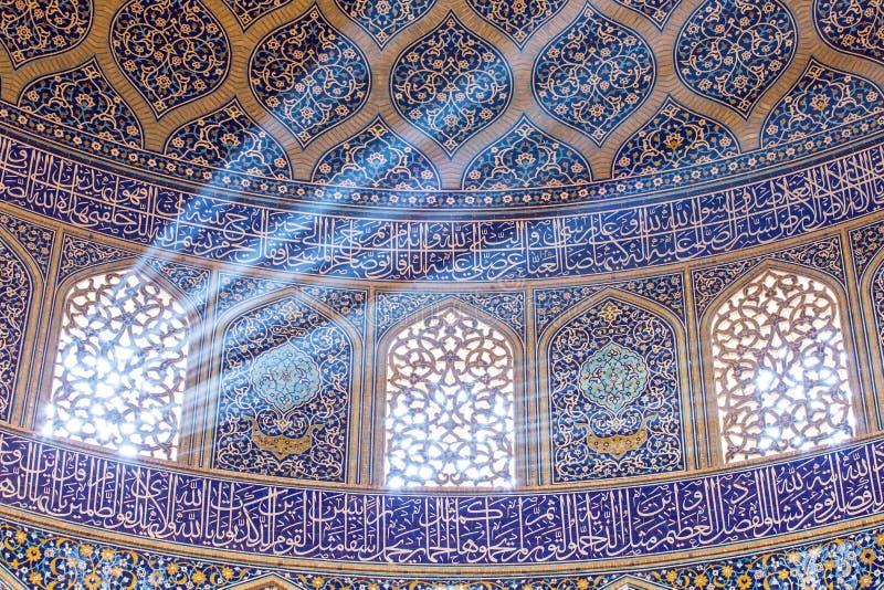 Lotfollah Mosque回教族长Naqhsh-e Jahan广场的在伊斯法罕,伊朗 库存图片