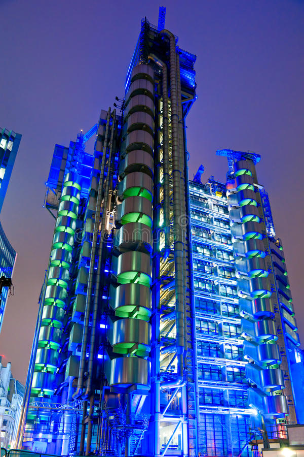 LOThe Lloyd buduje Londyn. fotografia stock