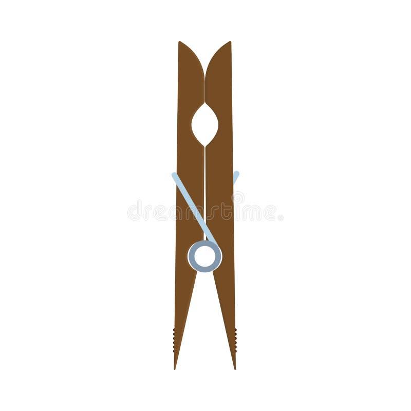 Lothes η καρφίτσα Ð ¡ κρεμά το διανυσματικό εικονίδιο σφιγκτηρών εξοπλισμού γραμμών Επίπεδο ξύλινο εργαλείο οικιακών ξηρό γόμφων  απεικόνιση αποθεμάτων