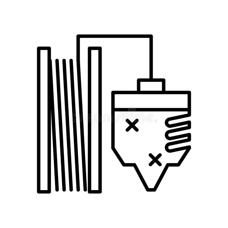 Lotikonenvektorzeichen und -symbol lokalisiert auf weißem Hintergrund, Lotlogokonzept stock abbildung