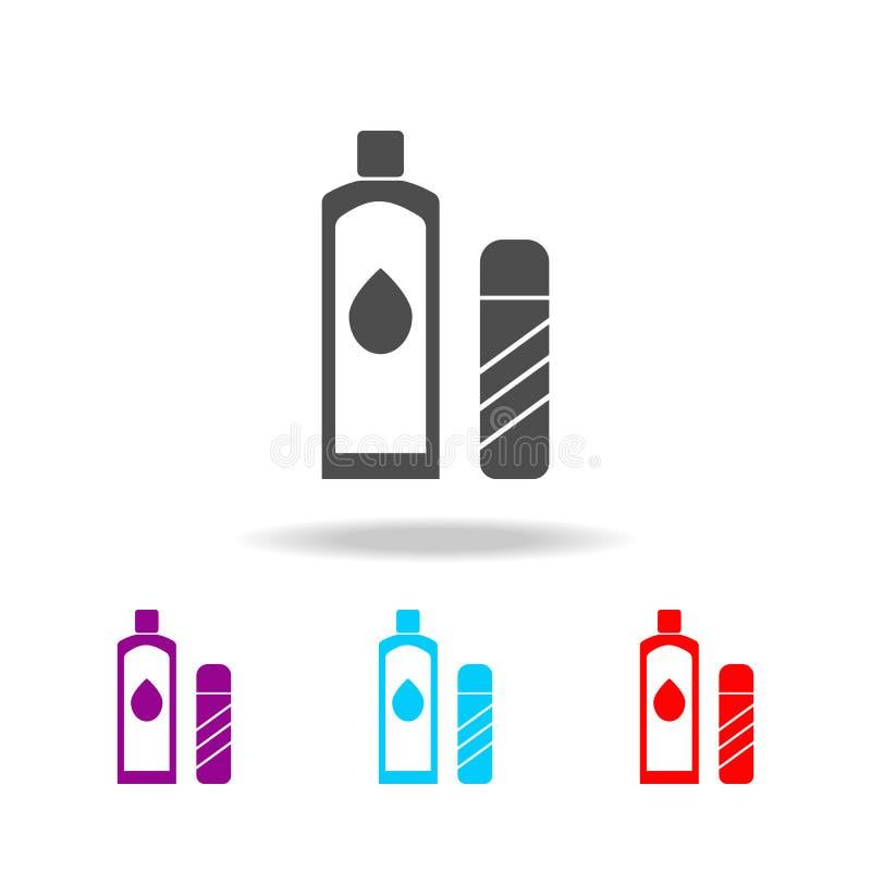 Lotionpictogram Elementen van badkamers in multi gekleurde pictogrammen Grafisch het ontwerppictogram van de premiekwaliteit Eenv vector illustratie