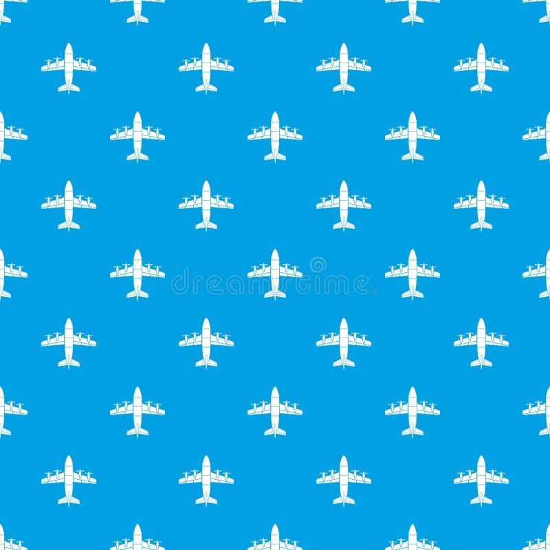 Lotnictwa deseniowy wektorowy bezszwowy błękit royalty ilustracja