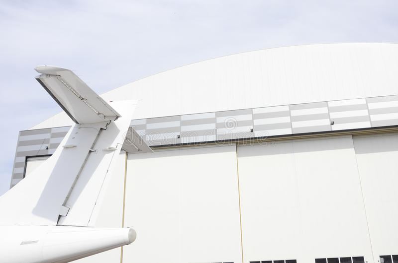 Lotnictwa utrzymania hangar obraz royalty free