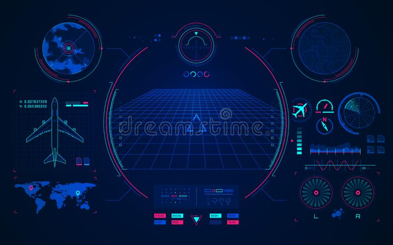 Lotnictwo technologia royalty ilustracja