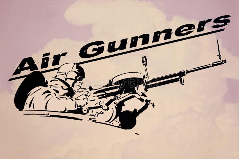 Lotnicza armatnik grafika Wojny Światowej ll