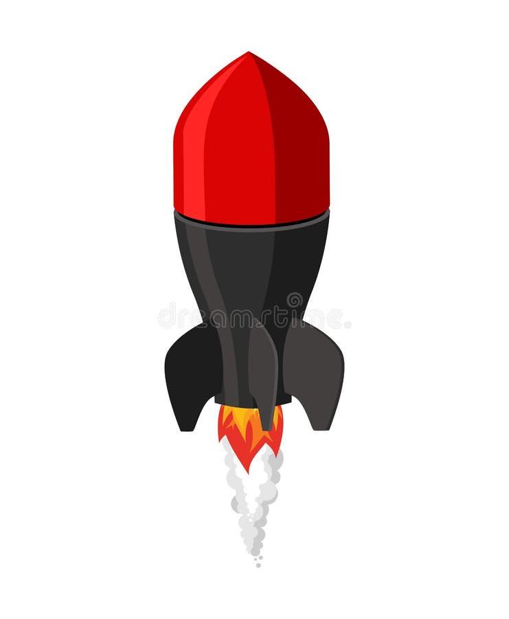 Lotnicza bomba odizolowywająca Walcząca rakieta na białym tle militate royalty ilustracja