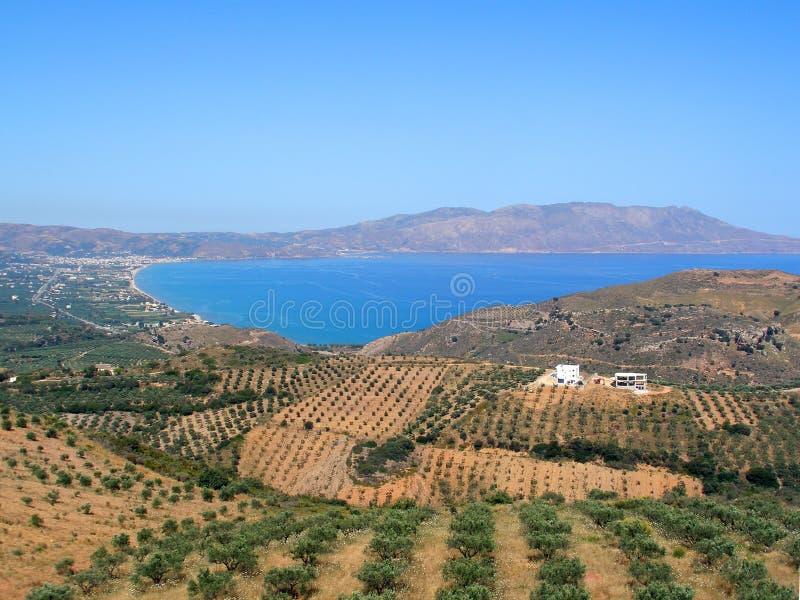 Lotnicza fotografia, Kissamos, Chania, Crete, Grecja fotografia royalty free