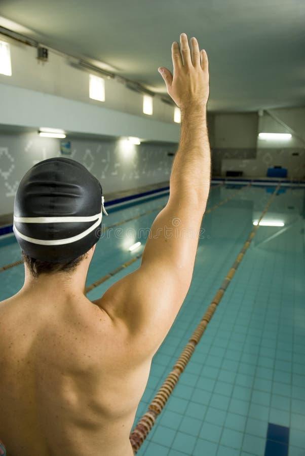 lotnicza ręki pływaczka zdjęcia royalty free