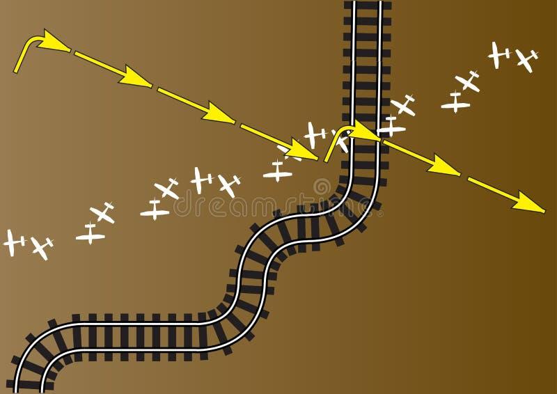 lotnicza sztachetowa trasa royalty ilustracja