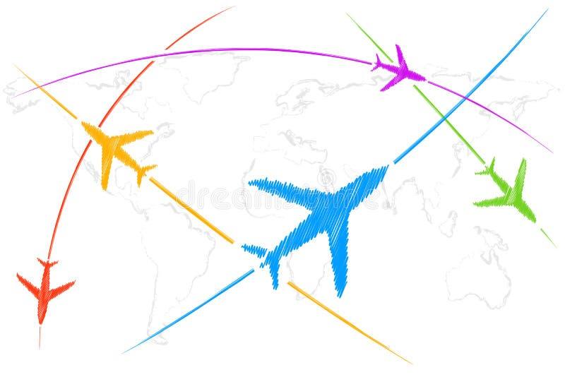 lotnicza trasa ilustracji