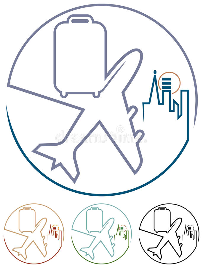 Lotnicza wycieczka turysyczna ilustracja wektor