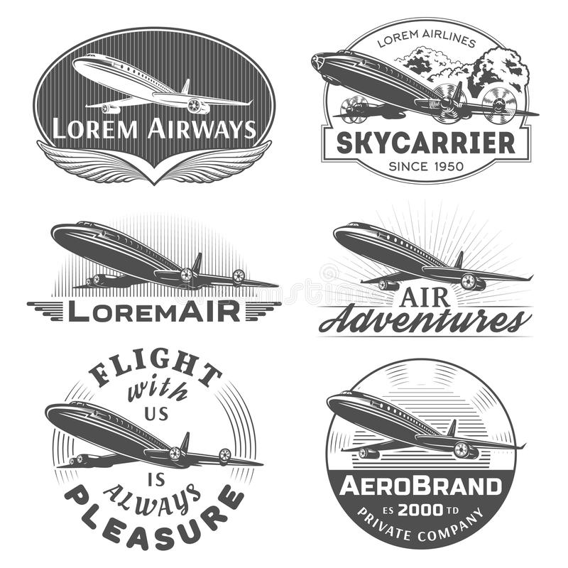Lotnicze odznaki royalty ilustracja