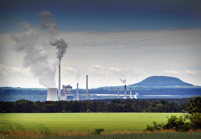 lotniczego środowiska fabryki zanieczyszczenie obrazy stock