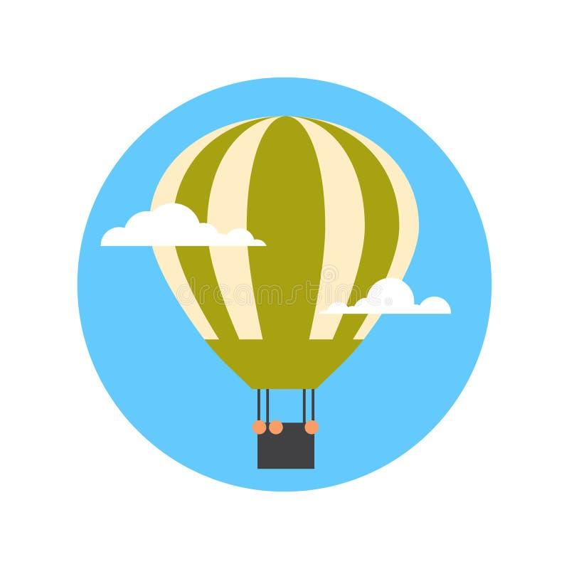Lotniczego balonu ikony wakacje przygody Odosobniony pojęcie ilustracja wektor