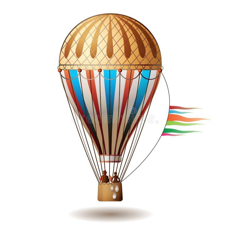 lotniczego balonu kolorowy gorący ilustracja wektor