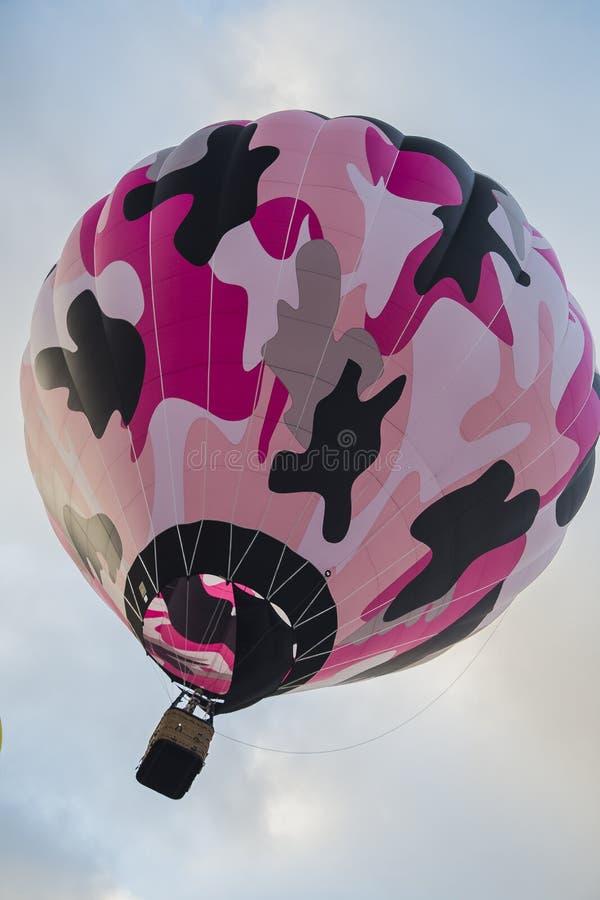 lotniczego balonu kolorowy gorący niebo obraz stock