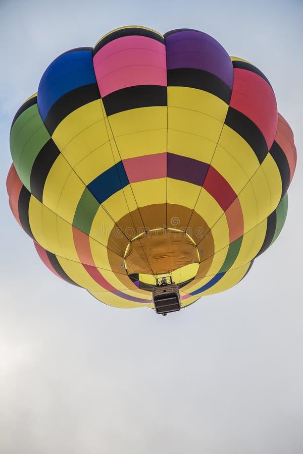 lotniczego balonu kolorowy gorący niebo fotografia stock