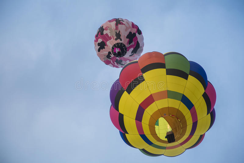 lotniczego balonu kolorowy gorący niebo obrazy stock