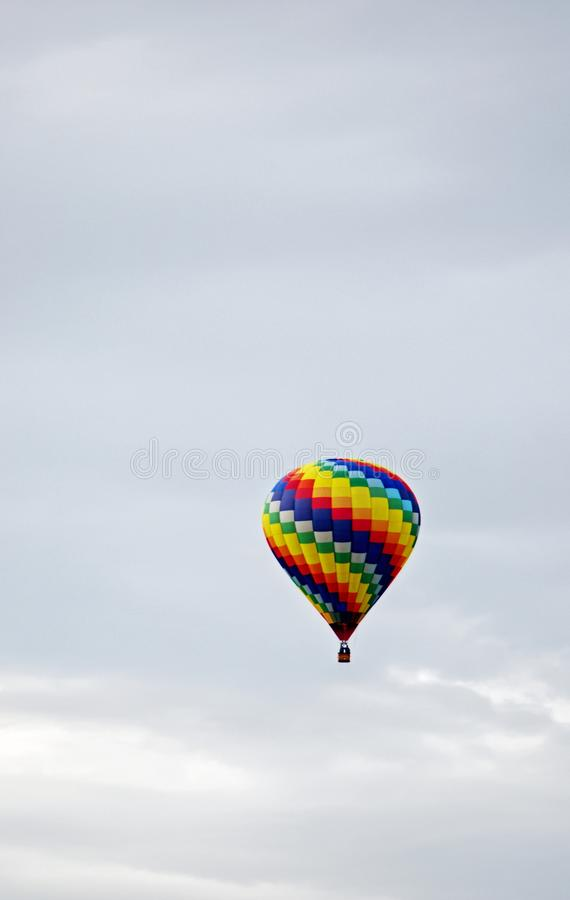 lotniczego balonu kolorowy odległy gorący fotografia stock