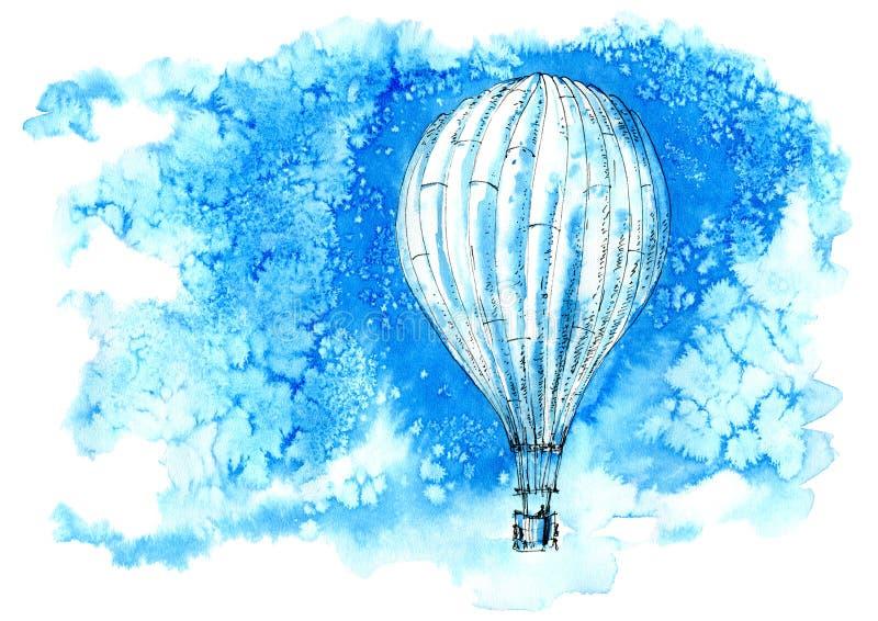 lotniczego balonu palniki podpalali gorącego propan ilustracji