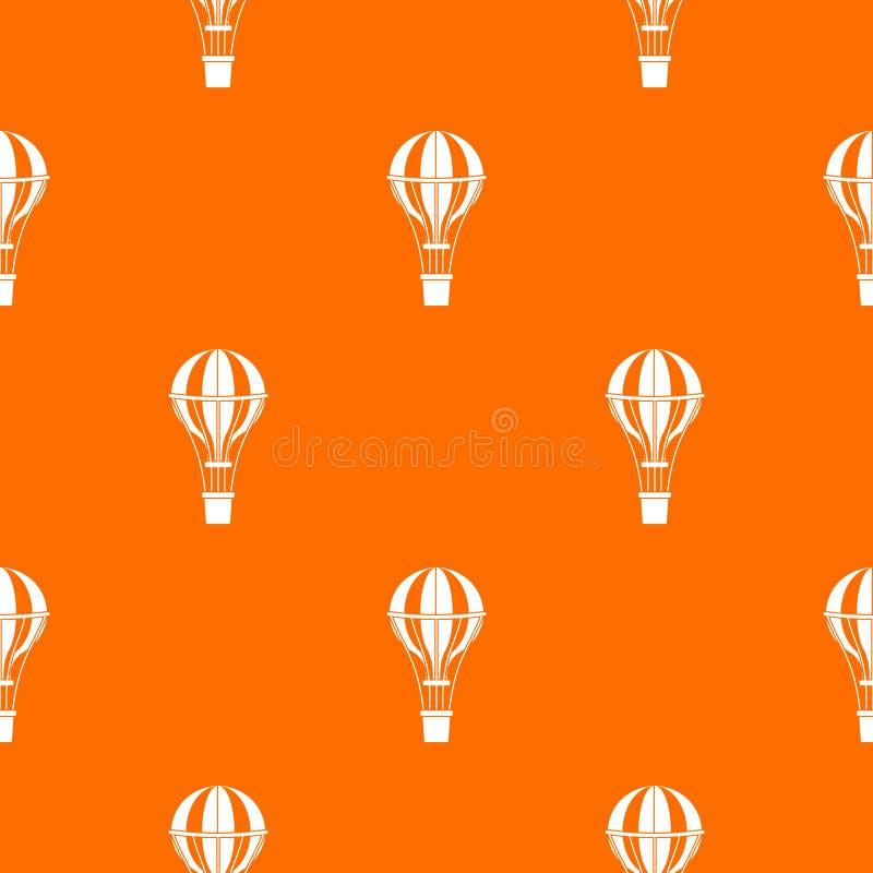 Lotniczego balonu podróży wzór bezszwowy royalty ilustracja