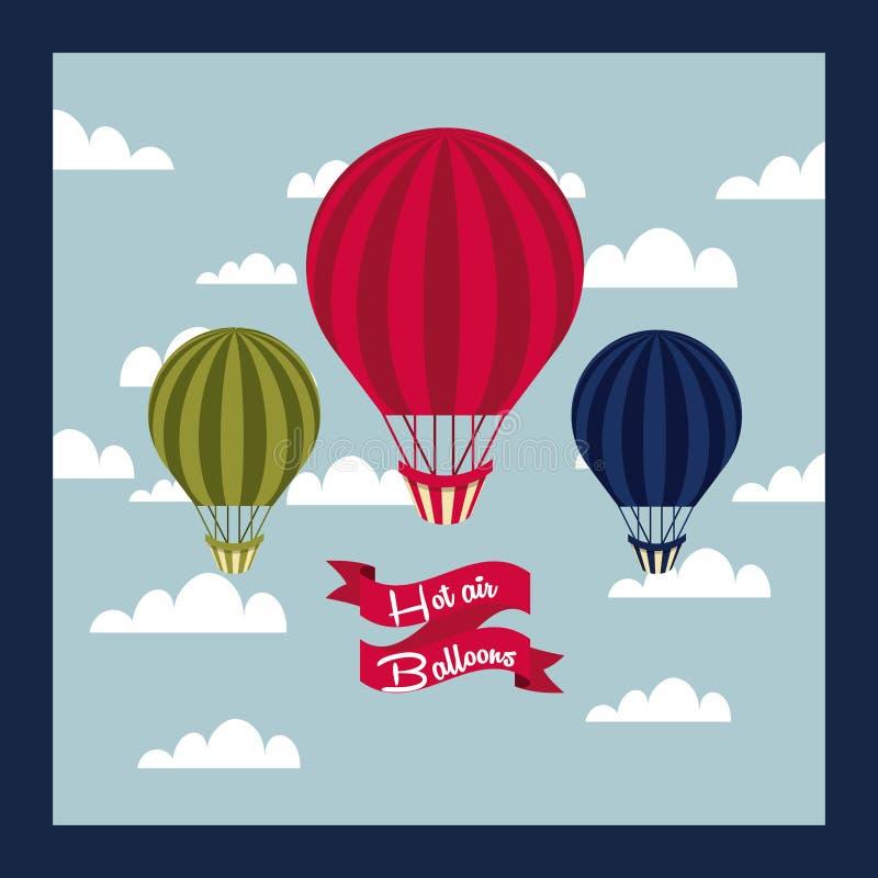 Lotniczego balonu projekt royalty ilustracja