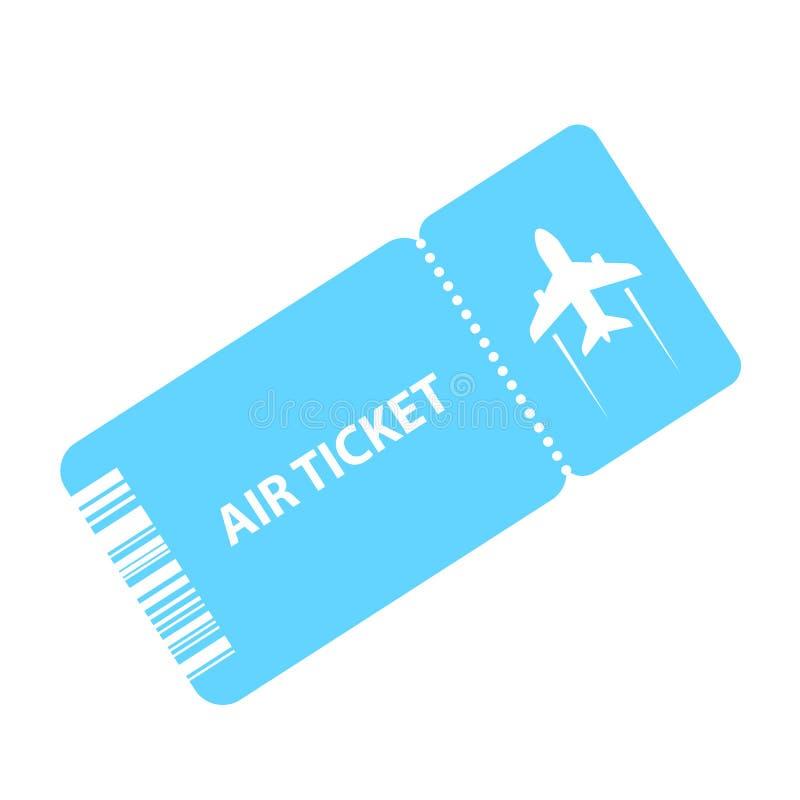 Lotniczego bileta wektoru ikona ilustracja wektor