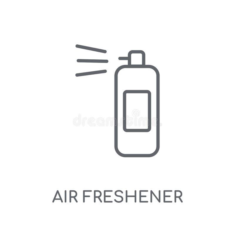 Lotniczego freshener liniowa ikona Nowożytny konturu Lotniczego freshener logo przeciw ilustracji