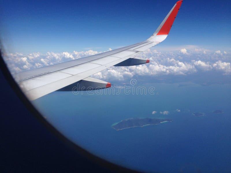 Lotniczego samolotu widok zdjęcie stock