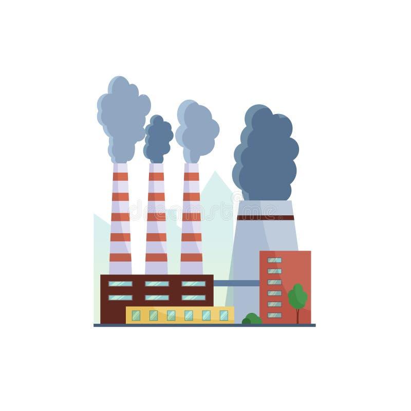 lotniczego tła błękitny fabryczny zanieczyszczenie ilustracji