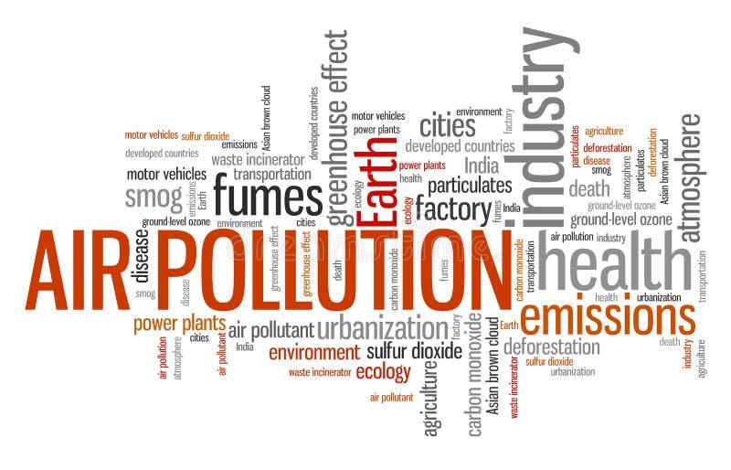 lotniczego tła błękitny fabryczny zanieczyszczenie royalty ilustracja