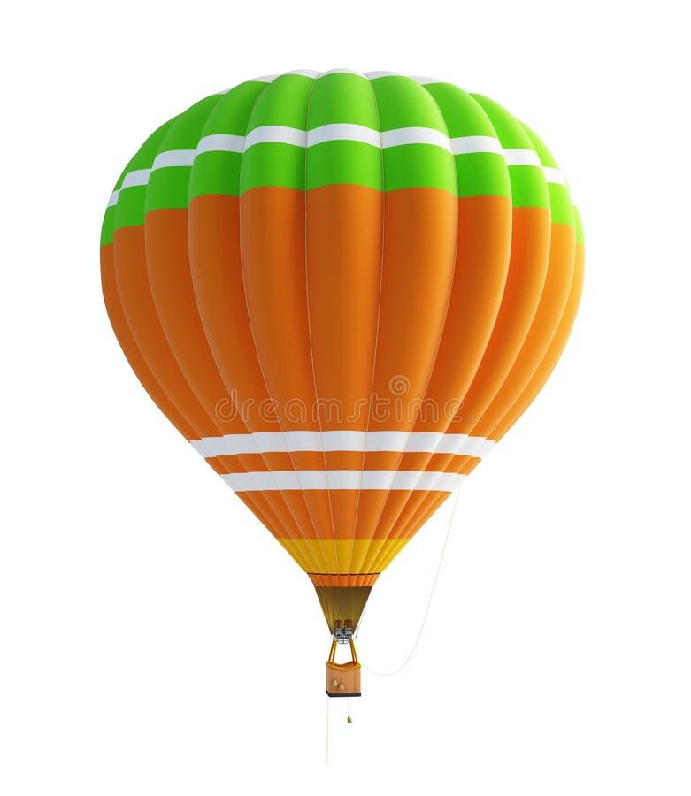lotniczego tła balonu gorący biel royalty ilustracja