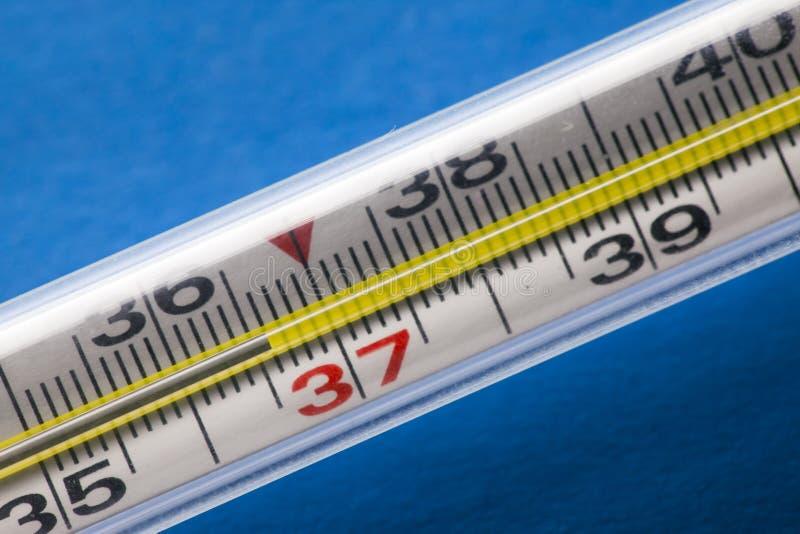 lotniczej czek rtęci temperaturowy termometr idealna temperatura 36 6 zdjęcie stock