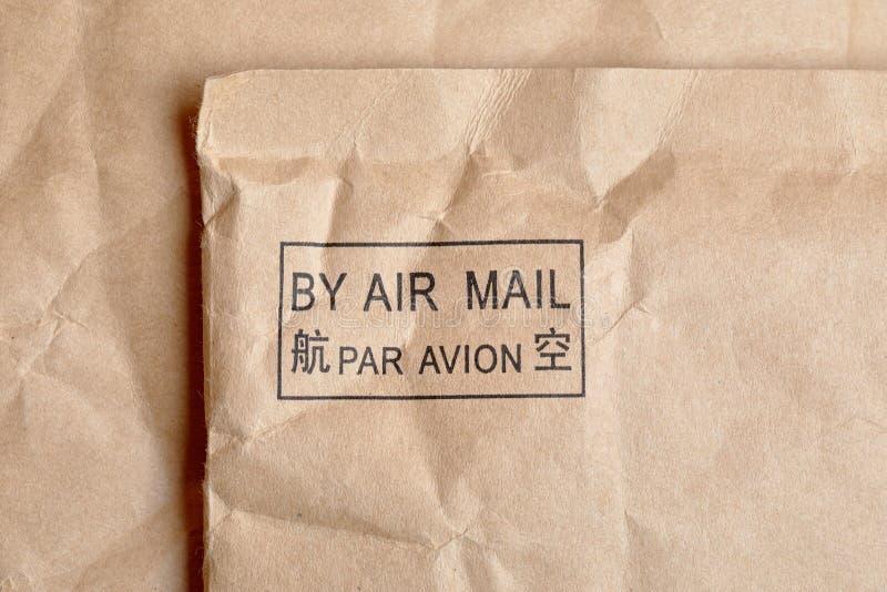 Lotniczej poczty znaczkiem fotografia stock