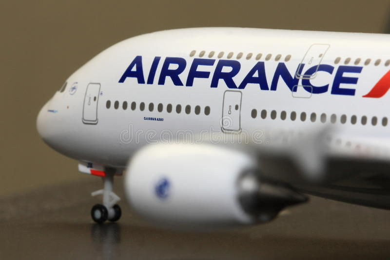 lotniczy A380 model Airbus France fotografia royalty free