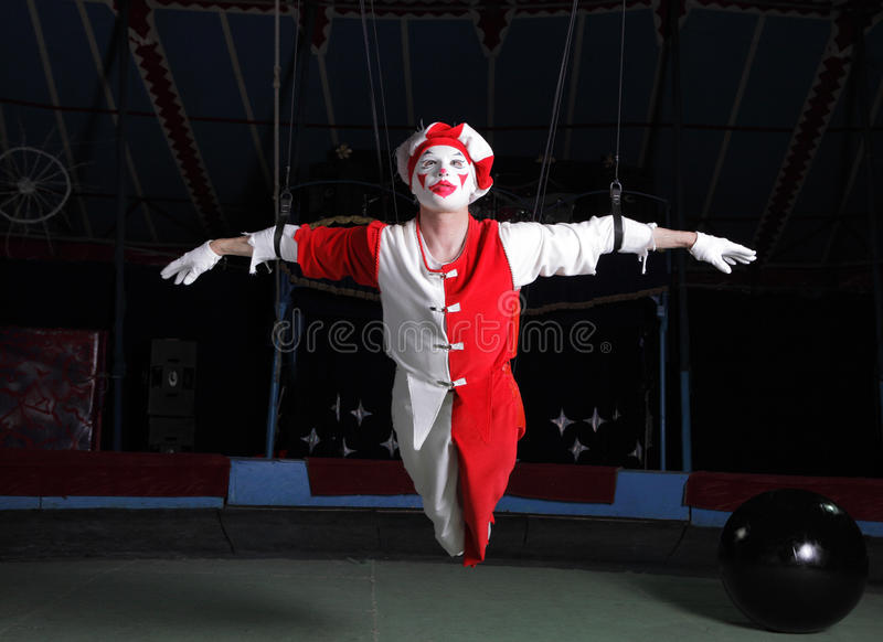 lotniczy akrobata cyrk obrazy stock