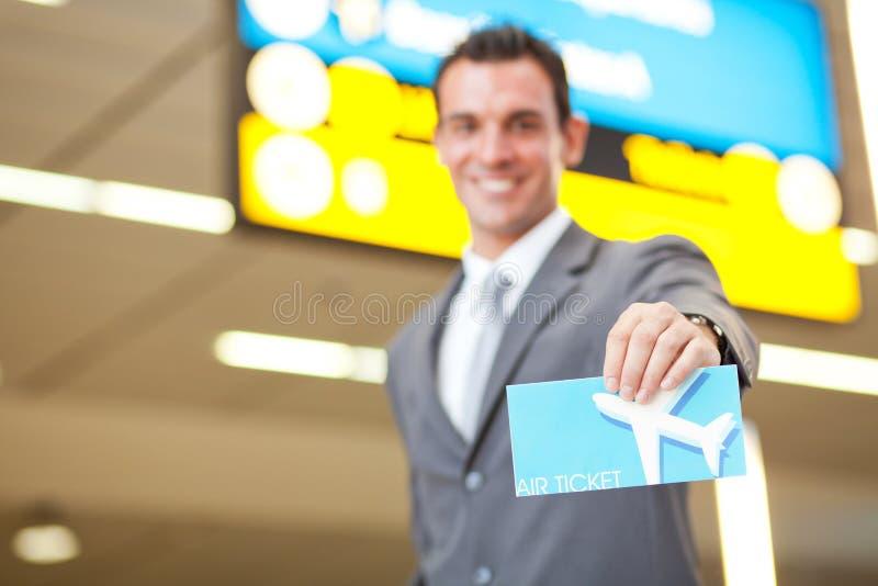 lotniczy bilet zdjęcie stock