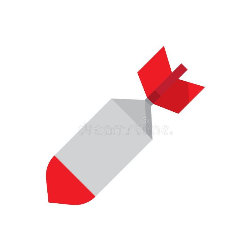 Lotniczy bombowy ikona wektor ilustracja wektor