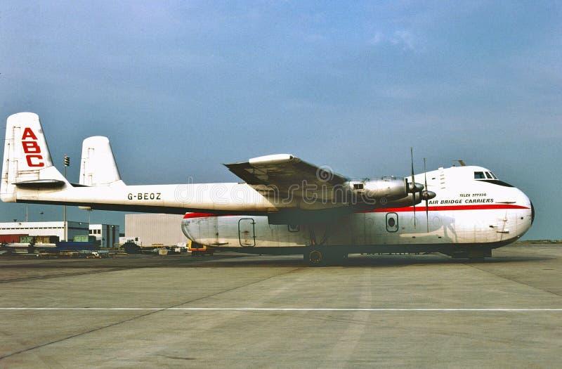 Lotniczy Bridżowy przewoźnika Armstrong Whitworth AW 650 Argosy 101 obrazy stock