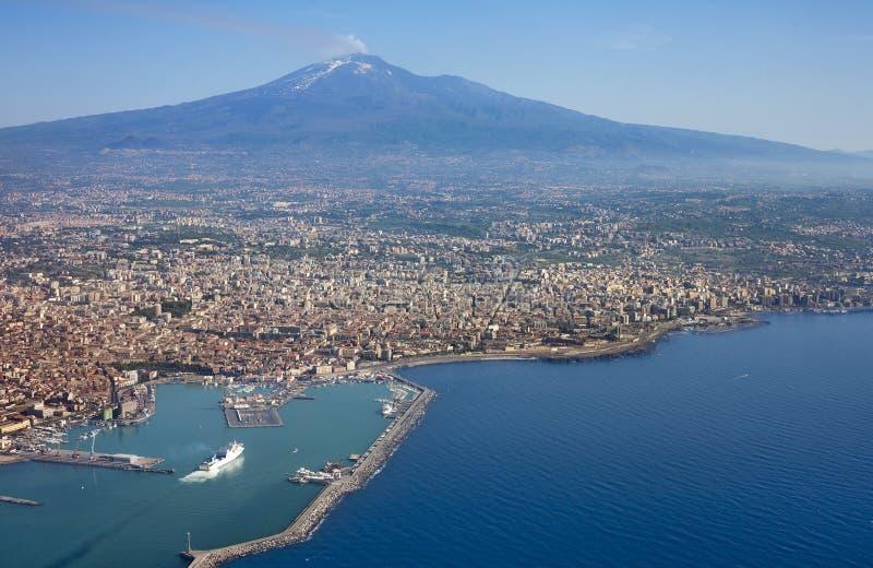 lotniczy Etna zdjęcie royalty free
