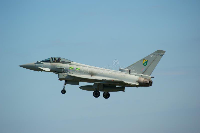 lotniczy eurofighter przedstawienie Sunderland tajfun fotografia royalty free