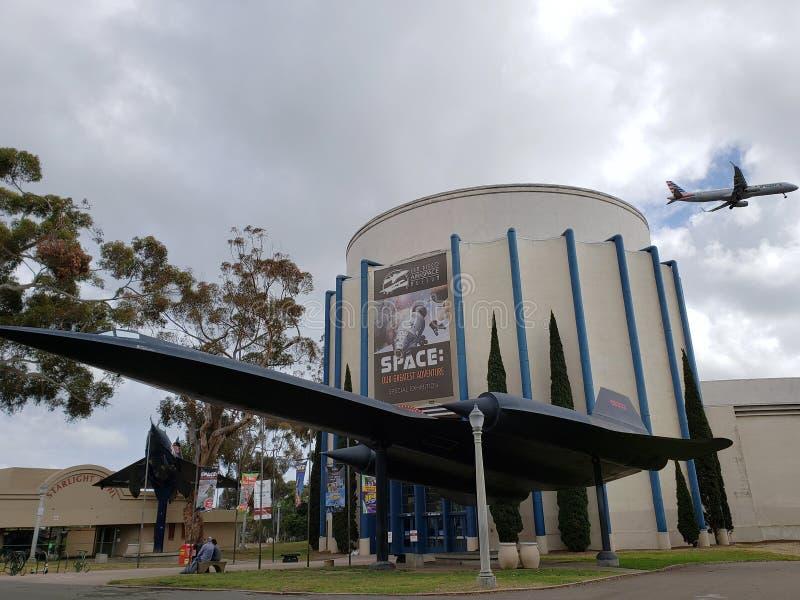Lotniczy i Astronautyczny muzeum w San Diego balboa parku fotografia royalty free