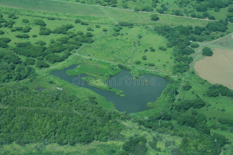 lotniczy jeziora zdjęcie royalty free
