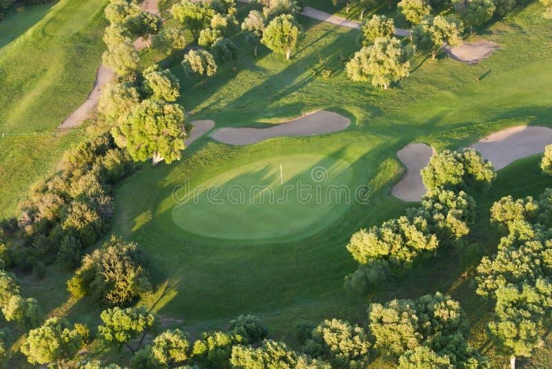lotniczy kursu golfa widok zdjęcia royalty free