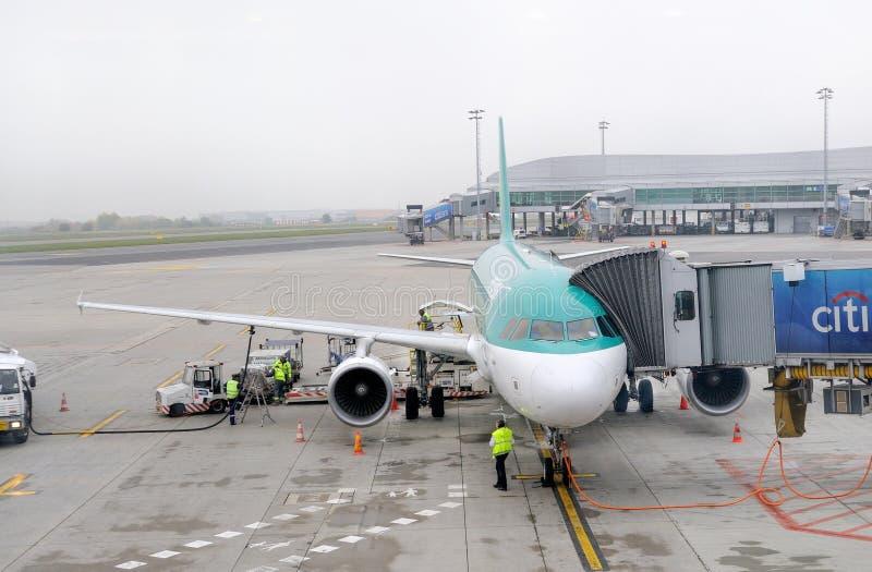 Lotniczy lingus Aerobus A320 fotografia royalty free