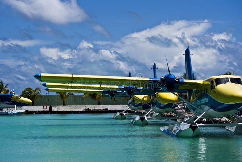 lotniczy maldivian taxi tma obraz stock